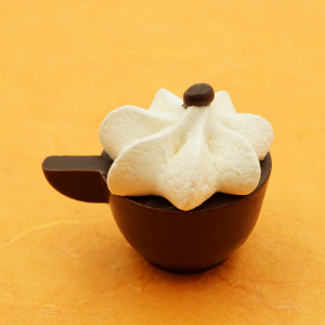 capuccino cup with meringue topping