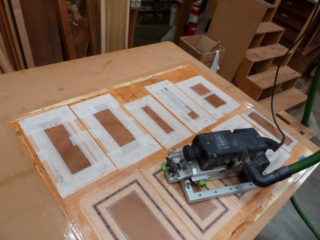 Using the 80G belt sander with a frame, quick controlled surfacing possible