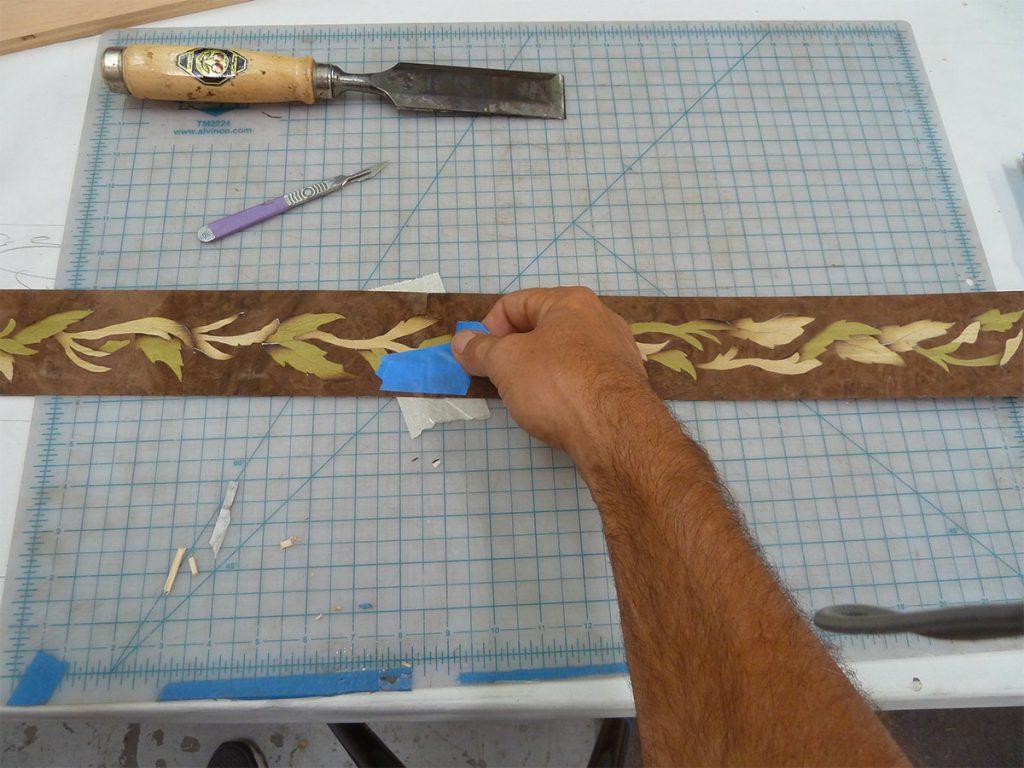 Assembling a long strip from segments