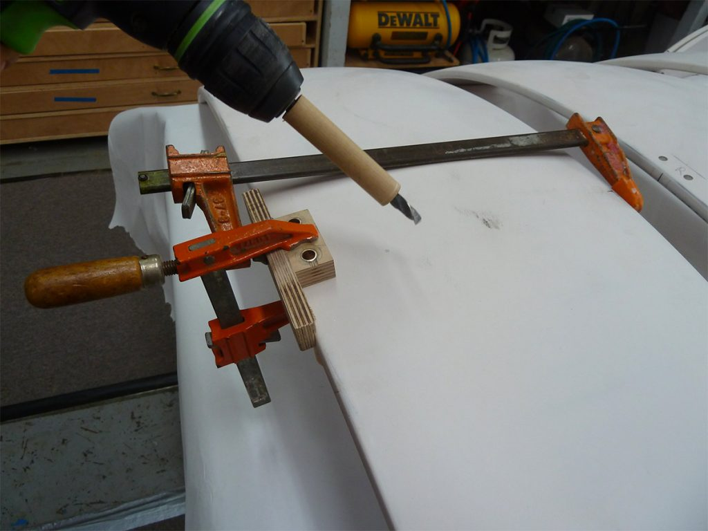 3-D alignment jigs required on a compound curved surface