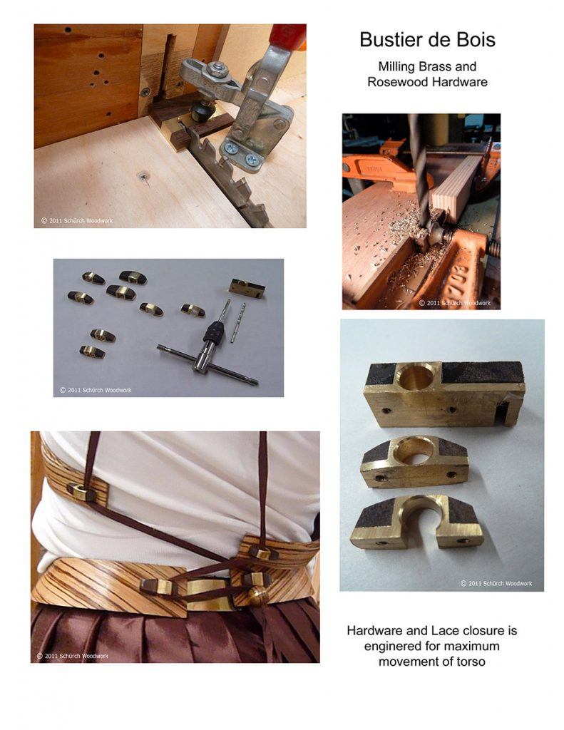Brass and rosewood hardware