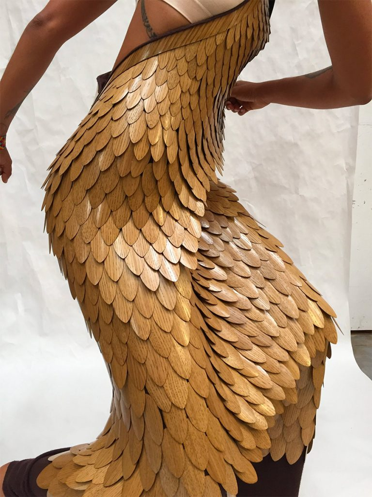 Twisting in a wooden dress